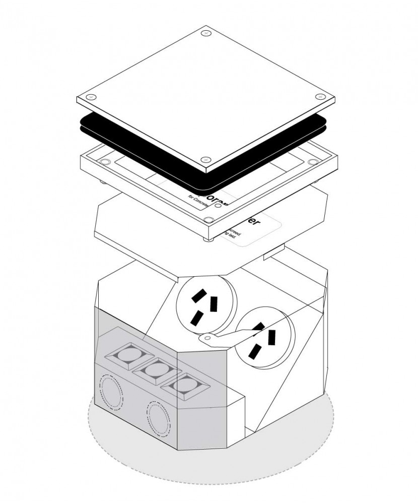 FFOB-168 2 X 10 Amp AUTO SWITCHED OUTLETS 3 x SINGLE DATA